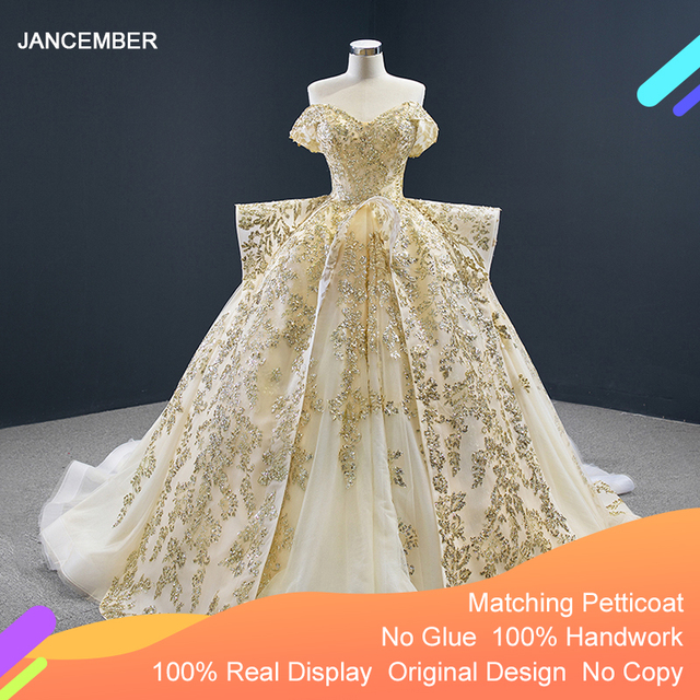 J67024 Jancember נשים שמלות לחתונה מסיבת עבור אורח מתוקה כבוי כתף תחרה בתוספת גודל ערב שמלות Vestido Noite