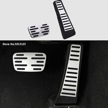 цена на For Toyota Camry 2018 2019 Car Accessories Car Accelerator Gas Pedal Cover Brake Foot Pedal Pads Fuel Brake Clutch AT pedals