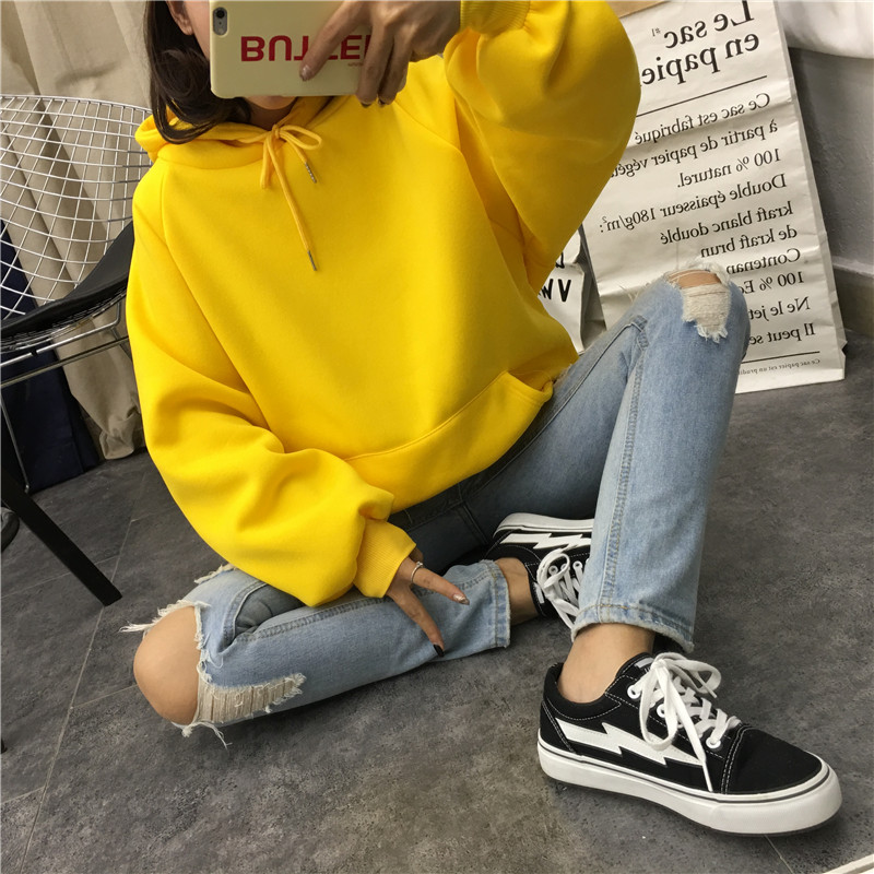 He2b36de6728a451fb97ce7a59e99daa54 - Autumn winter Harajuku Solid Sweatshirt Women Long Sleeve Hoodie Loose Women Hoodies Sweatshirts Casual Tracksuit