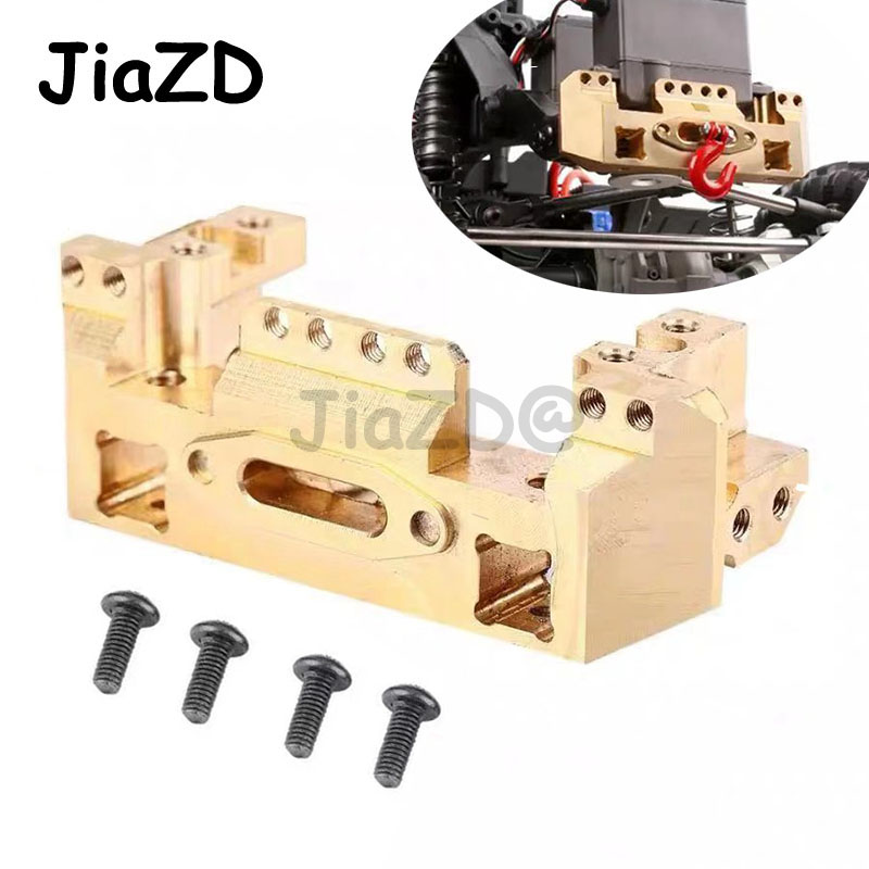 1PCS TRX4 Brass Front Bumper with Servo Mount 114g for RC Car Traxxas TRX 4 1/10 Scale and Trail Crawler Parts A11Parts & Accessories   -