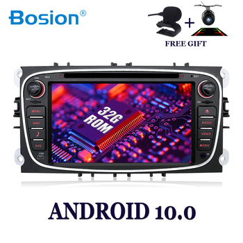 Bosion Car multimedia player Android 10.0 Car DVD for Ford Mondeo Focus S-max Smax Kuga C-max Car Gps navigation autoradio SWC image
