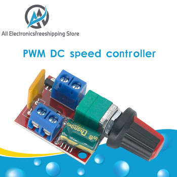 Hot Sale Mini 5A PWM Max 90W DC Motor Speed Controller Module 3V-35V Control Switch LED Dimmer - discount item  15% OFF Electrical Equipment & Supplies