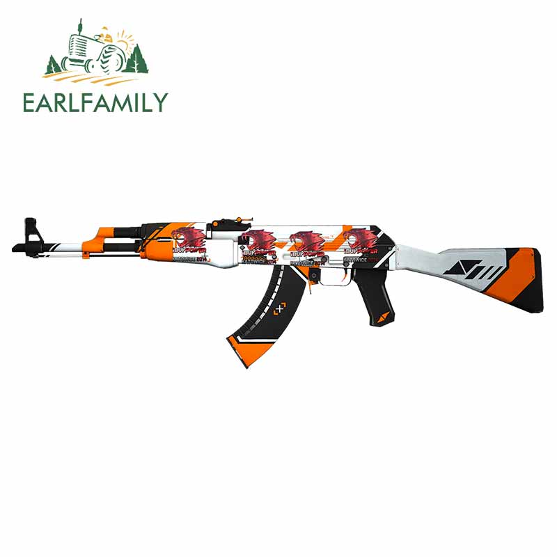 EARLFAMILY 13cm X 3.8cm Asimov AK-47 Auto Bumper Window Car Stickers DIY Custom Printing Fashion Repair Sticker Camper JDM Decal