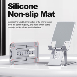 Universal Phone Holder Stand for iPhone 12 ProMax Metal Phone holder For Xiaomi mi 9 Foldable Desk Stand For Huawei Mobile Phone