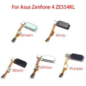 "Image 2 - 10 ชิ้น/ล็อต,เซ็นเซอร์ลายนิ้วมือ Home Return Key เมนูปุ่ม Flex Ribbon Cable สำหรับ ASUS Zenfone 4 ZE554KL 5.5"""