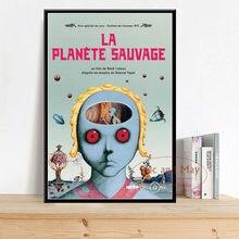 Science-fiction – peinture sur toile de La planète La Sauvage, film classique, Art mural, décoration nordique pour La maison