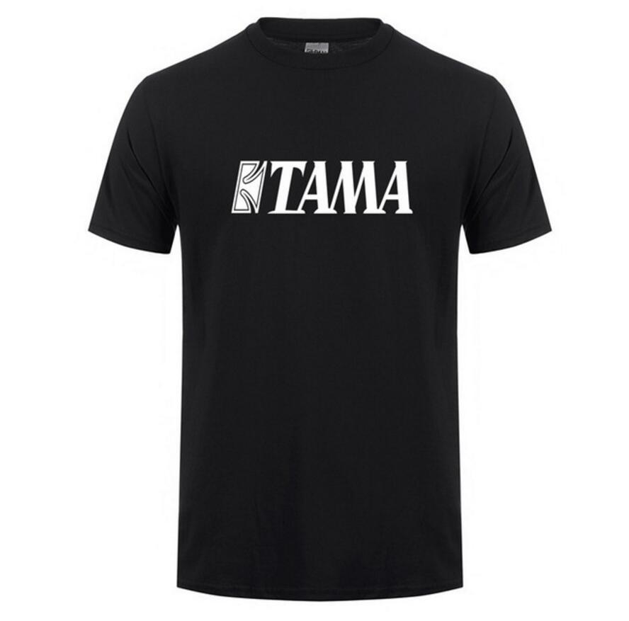Men Printed Tama T Shirt New Cool Printed Drums Messi T-shirts Men O-neck Short Sleeve Cotton Music T-shirts Custom Tshirt