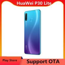 EU версия HuaWei P30 Lite 4 аппарат не привязан к оператору сотовой связи смарт-телефон с функцией отпечатка пальца Kirin 710 Octa Core NFC 6,15