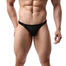 underwear men Sexy Gay briefs Ultr-thin Ice Silk Soft Man Low Waist panties U Convex Breathable Underpants ropa interior hombre