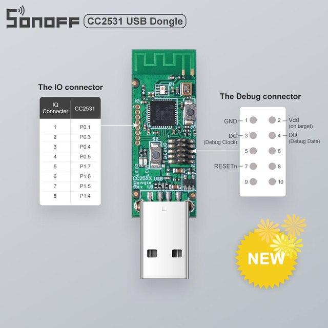 جهاز سونوف زيجبي CC2531 USB دونغل واجهة وحدة دونغل لوحة العارية محلل حزمة يدعم BASICZBR3 S31 Lite zb
