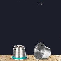 Capsulas espresso nova versão recargables café filtro de aço inoxidável cápsula recarregável nespresso reutilizável para nepresso