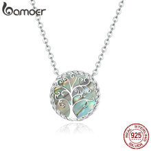 bamoer 925 Sterling Silver Pendant Necklace Doctor Tree of Life silver Necklaces Health Professional Gift women Jewelry SCN433