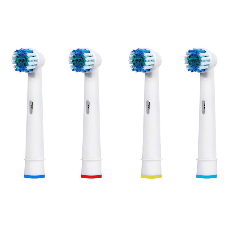 4PCS Oral 3D White Compatible Electric Toothbrush Heads Replacement Brush Braun B image