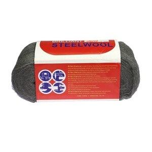Image 5 - 1 Stuk 180*70*70 Mm 4 5M 100 130G Metal Fibre Staaldraad wol Hand Slijpen Polijsten Cleaning Pad 4 #0000 # Voor Fotografie