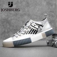 JOSHBERG Brand Designer Hard Wearing Men Casual Shoes Soft Designer Shoes Popular Street Style Men Shoes Sneakers Scarpe Da Uomo