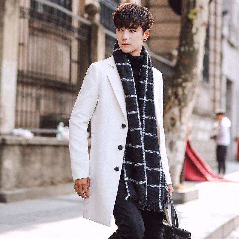Wool Blend Men's Coat Woollen Overcoat Winter Autumn Men Coat Fashion Brand Clothing Lined Warm Woolen Overcoat Male MOOWNUC 5XL - 4