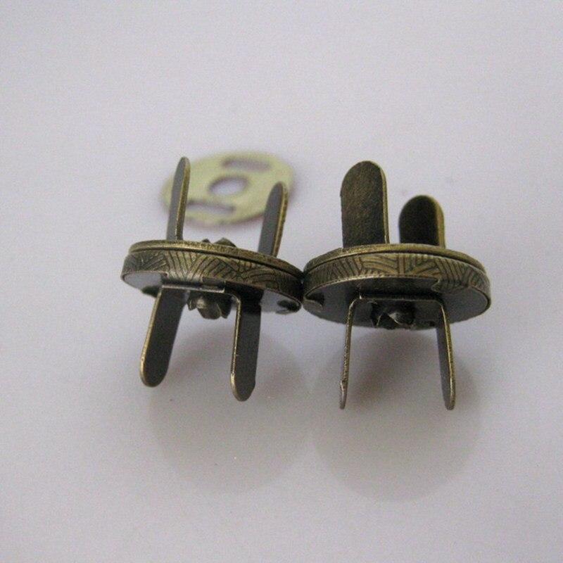 30 компл./лот 10 мм бронзовые Металлические Магнитные защелки кнопки сумка застежка для сумочки металлическая кнопка застежка шитье ремесло