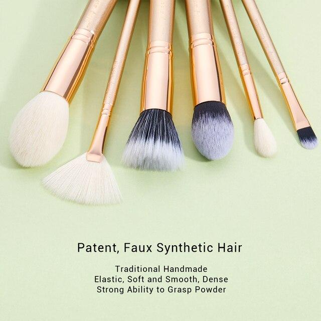 Jessup brush Makeup brush set 6pcs-30pcs Golden / Rose Gold POWDER EYESHADOW CONCERLER foundation brush 2