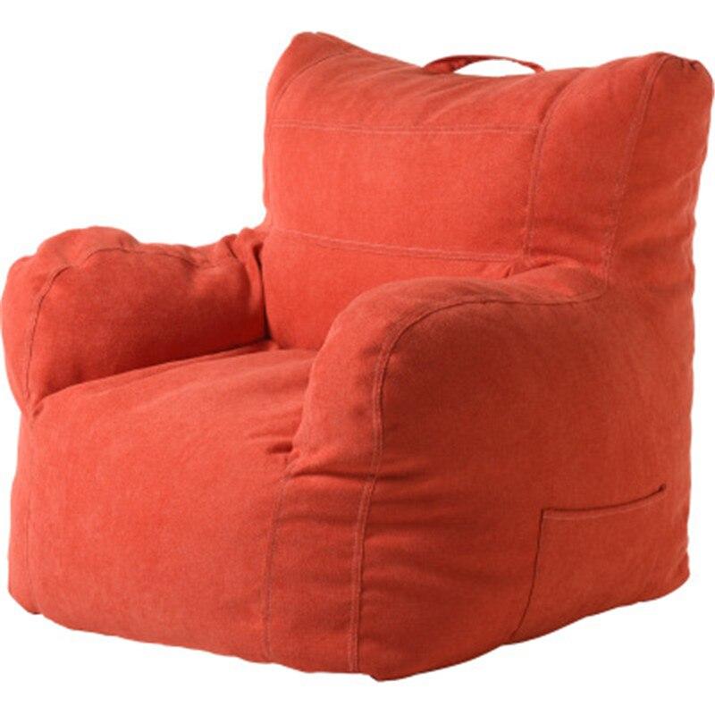 Sofá perezoso bolsa de frijol sofá de tela sofá sala de estar dormitorio Tatami silla perezosa ocio bolsa de frijol mullido sofá estudiantes/ los niños Tatami - 2