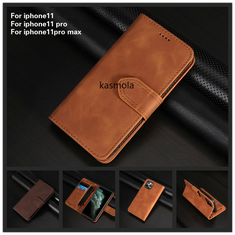 <font><b>Leather</b></font> <font><b>Flip</b></font> <font><b>case</b></font> For <font><b>iPhone</b></font> 11Pro XS Max XR <font><b>Case</b></font> For <font><b>iphone</b></font> 6 <font><b>7</b></font> 8 plus Magnetic Wallet Cover for Samsung S8 S9 A50 card coque image