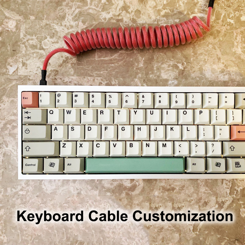 DIY Customized Coiled Metal Plug Umbrella Rope Cable Paracord Spirals Type C Micro Mini XLR For HUB Notebook Mechanical Keyboard