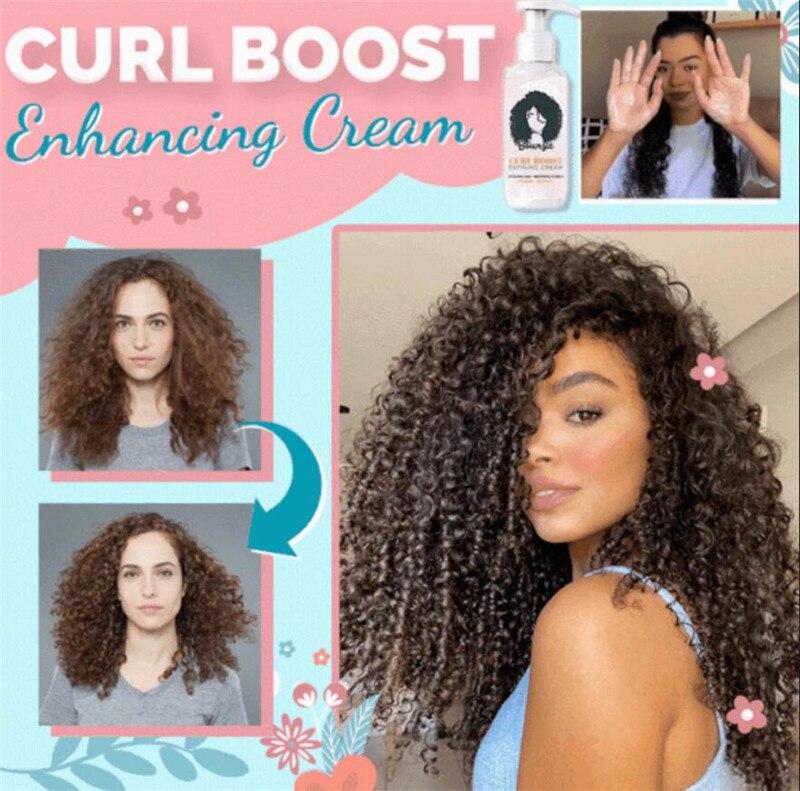 Curl Boost повышения груди крем идеальные локоны волос бустер крем мгновенный эффект сушки пушистость Управление волос Стиль установка крем