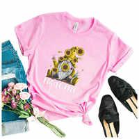 Camiseta de manga corta para mujer, camisetas informales con estampado para el Día de San Valentín