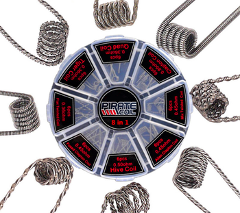 цены 48Pcs/Set 8 in 1 Prebuilt Coil Clapton Coil Alien Tiger Hive Quad Flat twisted Fused Heating Wire for Vape DIY E Cig For RDTA