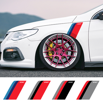 2Pcs Car Stickers For BMW Benz Audi VW Honda Mazda Auto Vinyl Film Decals Fender Wheel Brows Decoration Car Tuning Accessories 1