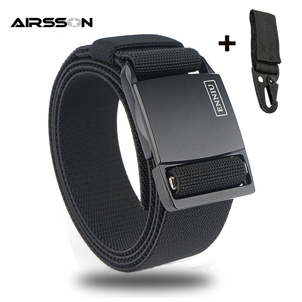 Military Tactical Belt Army Nylon Belt Metal Buckle Adjustable Men Heavy Duty Waist Belt Airsoft Hunting Training Accessories