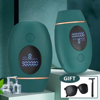 IPL depilator do laserowego usuwania włosów 900000 Flash golenie i depilacja permanentny depilator dla kobiet golarka męska trymer tanie i dobre opinie MOFAJIANG CN (pochodzenie) Rohs Elektryczne Approx 12 9*8 2*4 7cm 5 07x3 22x1 85inch Mofajiang820 Bikini BODY Face Do używania pod pachami