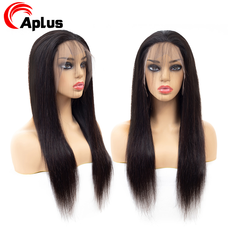 Straight Human Hair Wig 13x4 Lace Front Wig Natural Brazilian Remy Hair For Black Women Pre Plucked With Baby Hair Glueless Wigs