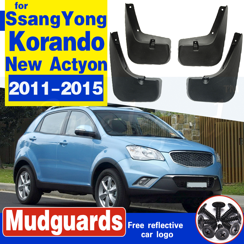 for SsangYong Korando New Actyon C200 2011~2015 Car Mudflaps Fender Mud Guard Splash Flaps Mudguards Accessories 2012 2013 2014 image