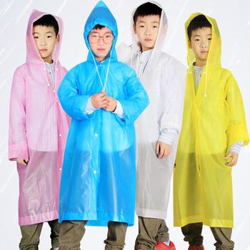 Unisex Disposable Raincoats Kids Rain Coat Portable Waterproof Drawstring Button Hooded Raincoats Poncho Raincoat Rain Gear