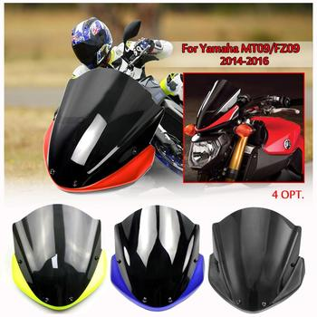 Wind Shield Windshield Windscreen with Bracket For Yamaha FZ MT 09 2014-2016 FZ09 MT09 Front Wind Deflector cover FZ-09 MT-09