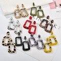 Новые стильные полые геометрические Висячие серьги для женщин винтажные большие эффектные серьги из змеиной кожи Ювелирные изделия для ве...