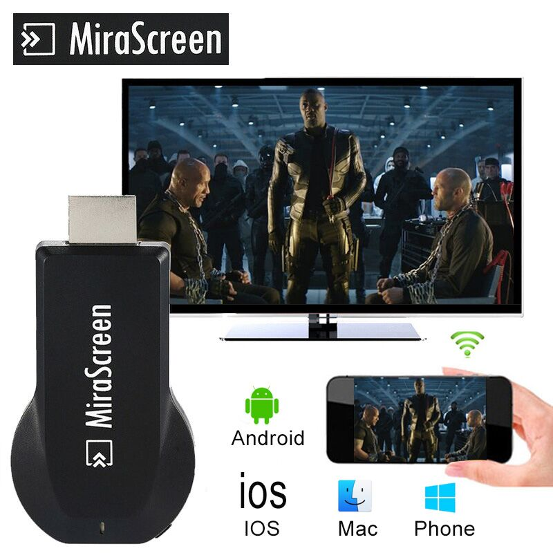 Dongle Tv-Stick Wifi-Display-Receiver Airplay Youtube Apple Tv Anycast Android Mirascreen Hdmi title=