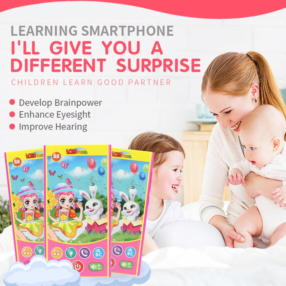 Girl And Bunny Baby Early Education Puzzle Singing Talking And Telling Stories Anti Fall Multi-Function Mobile Phone Toys