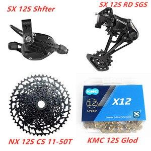 Image 2 - SRAM SX EAGLE 1x12 Speed 11 50T 10 50T Groupset Trigger Shifter Derailleur SX Chain KMC Chain NX 1230 Cassette  SX 1210 Cassette