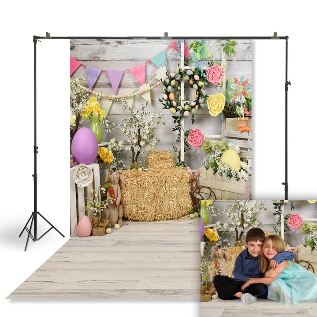 Huayi dia da páscoa fotografia pano de fundo recém-nascidos bebê criança primavera páscoa foto cabine fundo studio retratos pano de fundo W-3832