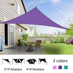 Driehoek Zon Blok Zeil Luifel Luifel Onderdak 95% Uv-bestendigheid Outdoor Luifel Familie Camping Tent
