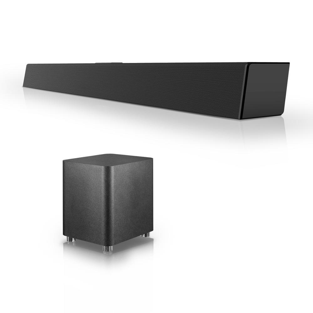 120 w sistema de som do cinema em casa soundbar 2.1 tv bluetooth alto-falante suporte óptico aux barra de som coaxial com subwoofer para tv