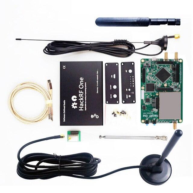 1pcs hackrf rádio plataforma placa de desenvolvimento software-definido rtl sdr demoboard kit dongle receptor presunto um 1 mhz-6 ghz peça de rádio