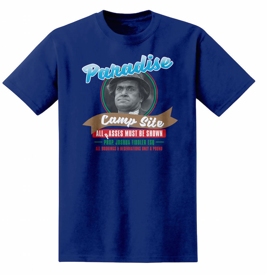 Carry on Camping Paradise Camp Site A Pound Advertising T Shirt