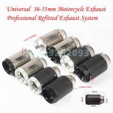 Universal 51MM Motorcycle AR Exhaust Pipe With Muffler Moto Bike Pot Escape For Yamaha Honda KTM Kawasaki ATV With DB killer недорого