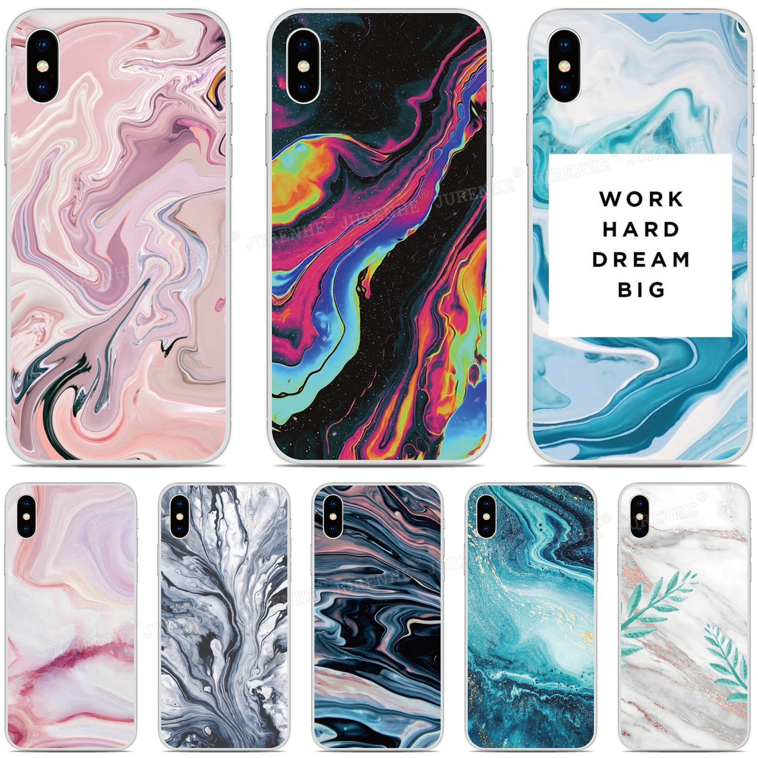 Marble Skin Pattern Phone Case For BlackBerry KEYone KEY 2 Priv Motion Passport Q30 Z10 Z30 Q10 DTEK50 DTEK60 DTEK70 tpu Cover(China)