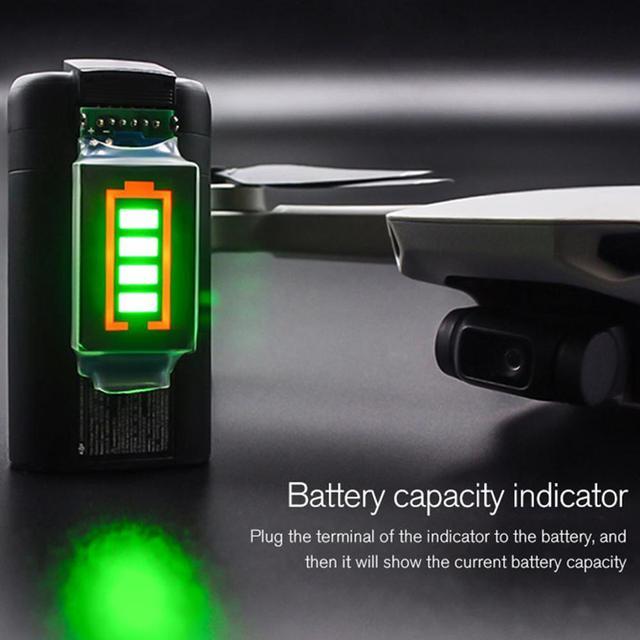 Battery Capacity Indicator For DJI Mavic Mini Battery Power with LED Display for DJI Mavic Mini Support 4 Level Power Display