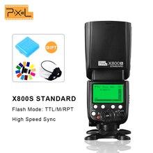 Piksel X800S Flash GN60 kablosuz TTL HSS kamera flaşı Speedlite Sony A7 A77 A7R RX1 A6000 A6300 DSLR Vs X800N GODOX
