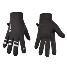 цена на Unisex Sport Motorcycle Gloves Outdoor Winter Cycling Riding Ski Gloves Touch Screen Warm Full Finger Gloves For Winter Sport