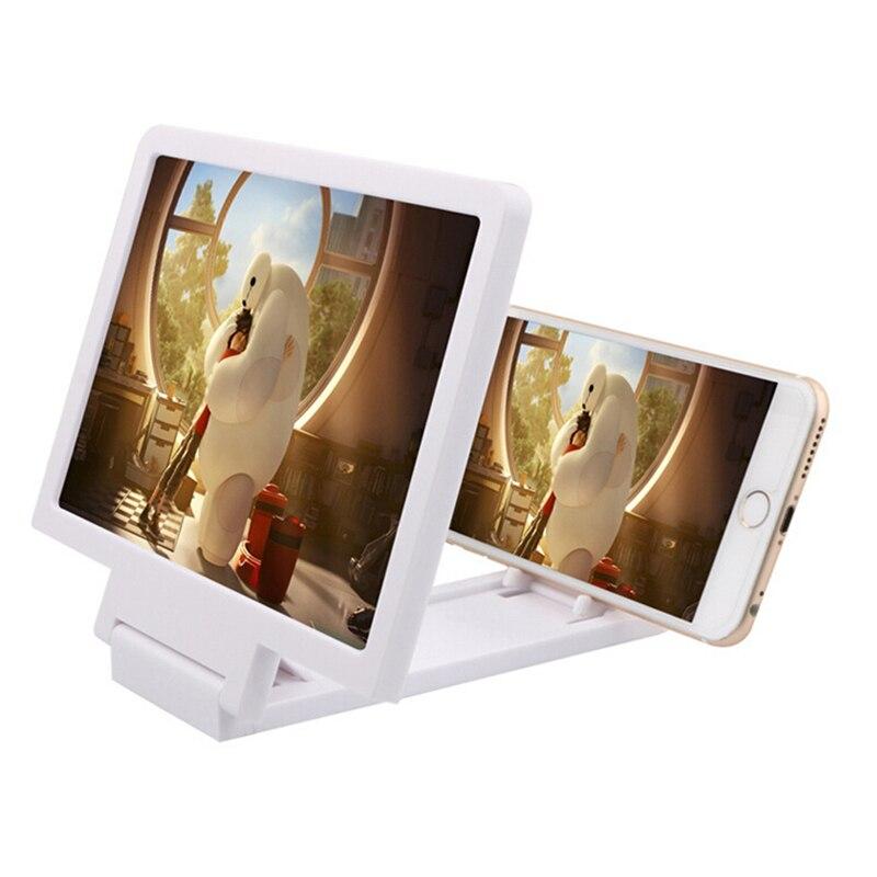 1 Uds lupa de pantalla de teléfono móvil amplificador de vídeo 3D Ampliador plegable soporte para HD para Video